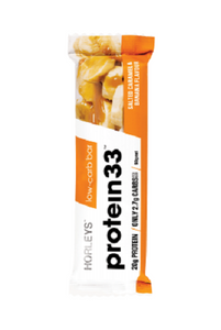 Horleys Protein 33 Low Carb Bars Salted Caramel & Banana Flavour 12 Units * 60g