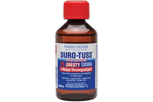 Duro Tuss PE Chesty Cough + Nasal Decongestant Liquid 200ml - DominionRoadPharmacy
