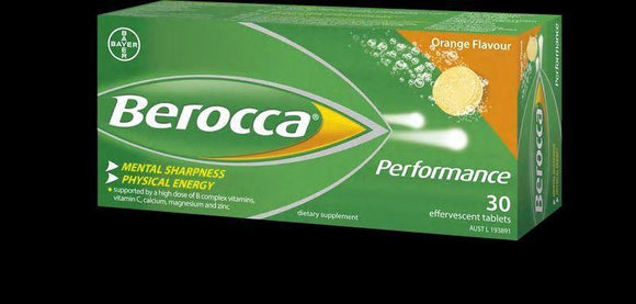 Berocca Performance Effervescent Tablets 30-Orange