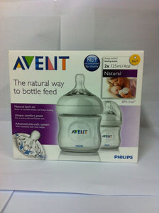 Philips Avent NATURAL Bottles 2 Pack 125 ml
