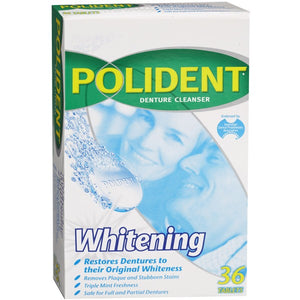 Polident Whitening Denture Cleaning Tablets 36