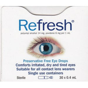 Refresh Eye Drops 30 x 0.4ml