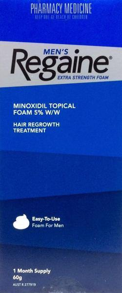 Regaine Foam Hair Loss Treatment Mens 60g 1 Month Pack - Pharmacy Medicine