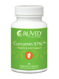 RUVed Curcumin 97% Muscle and Joint Support 60 Veg Capsules