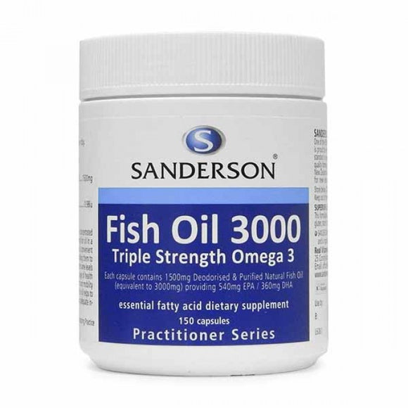 Sanderson Triple Strength Fish Oil 3000 Caps 150