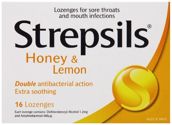 Strepsils Lozenges Lemon And Honey 16
