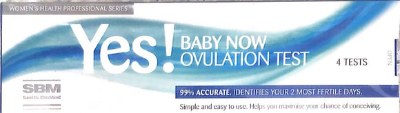 Yes Baby Now Ovulation Test 4 Tests