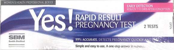 Yes! Rapid Result Pregnancy Test 2 tests
