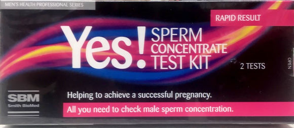 Yes! Sperm Concentrate Test Kit 2 Tests--Rapid Result