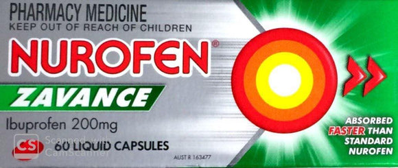 Nurofen Zavance Liquid Capsules 60's-Pharmacy Medicine