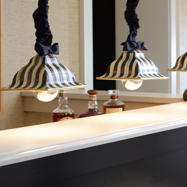 Courtly Stripe Square Hanging Lamp