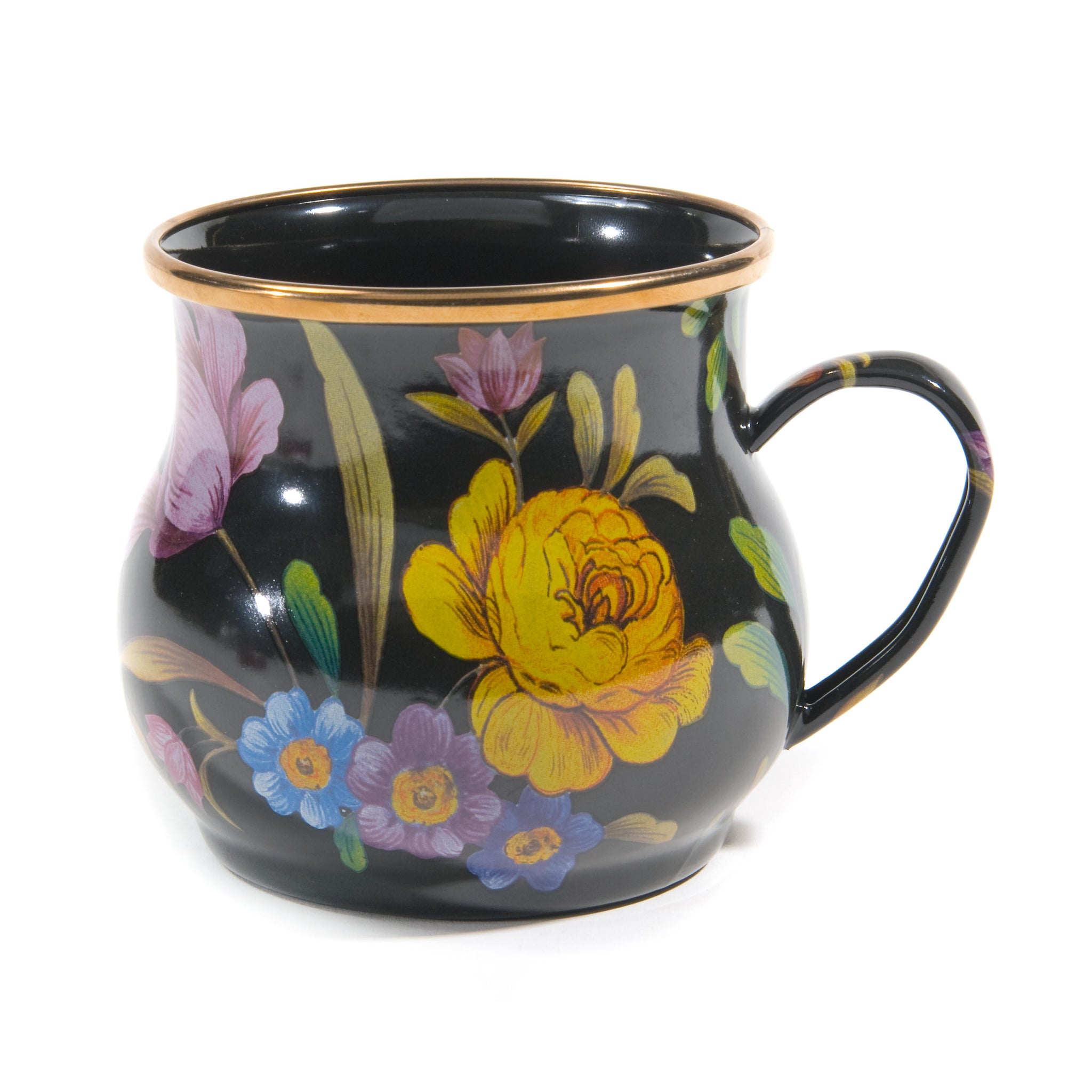 Flower Market Mug, Black