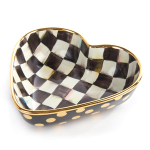 Courtly Check Heart Bowl Large