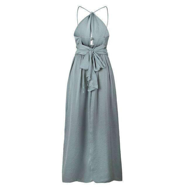 Dramatic Evening Chiffon Summer Dress