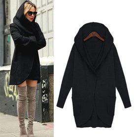 Hooded  Ladies Casual Jacket