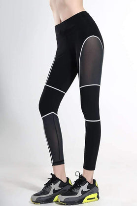 Structured Mesh  Sports Leggings