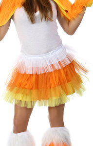 Adult Candy Corn Glitter Skirt