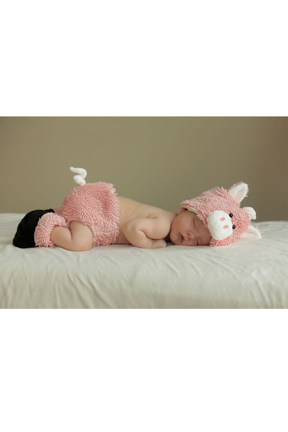 Cuddly Piglet Diaper Cover Set