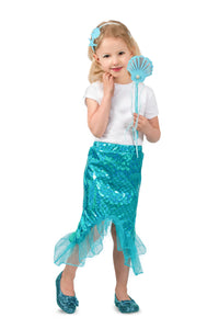 Blue Mermaid Skirt Set