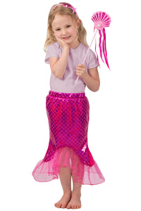 Pink Mermaid Skirt Set