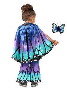 Child Blue Butterfly Cape