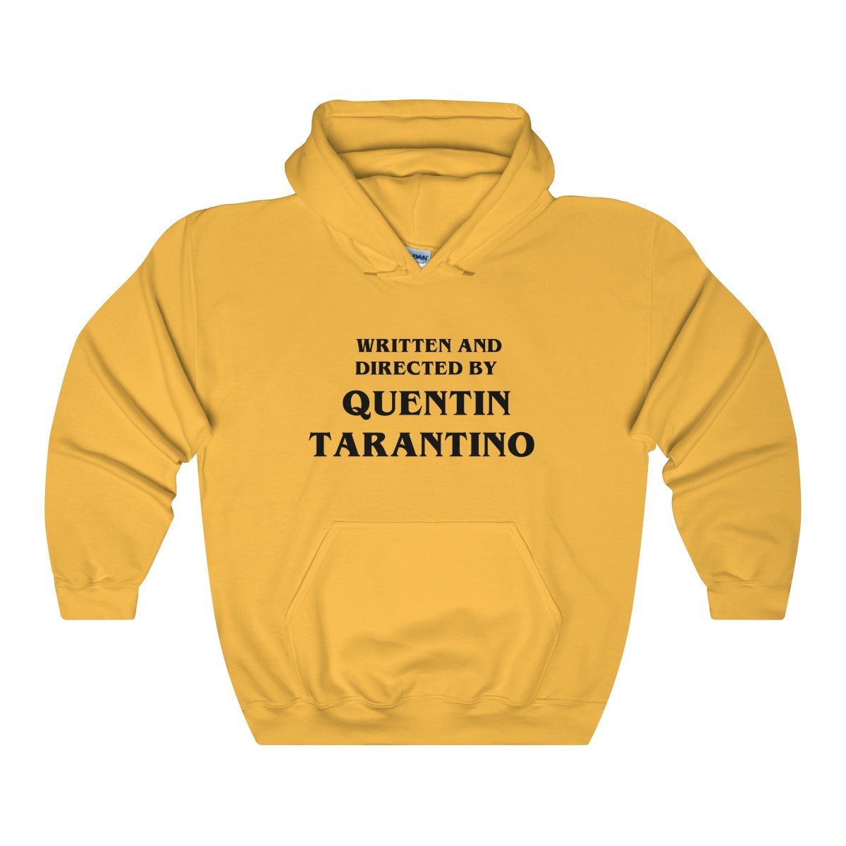 Vintage Written and Directed by Quentin Tarantino Kill Bill Unisex Gold Hoodie