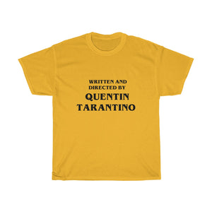 Vintage Men's Written and Directed by Quentin Tarantino T-Shirt