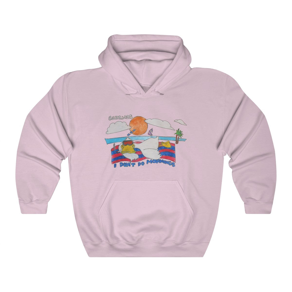 Vintage I Don't Do Mornings Bahamas Hoodie