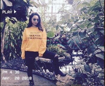 Vintage Written and Directed by Quentin Tarantino Kill Bill Unisex Gold Sweater by Runwoodie