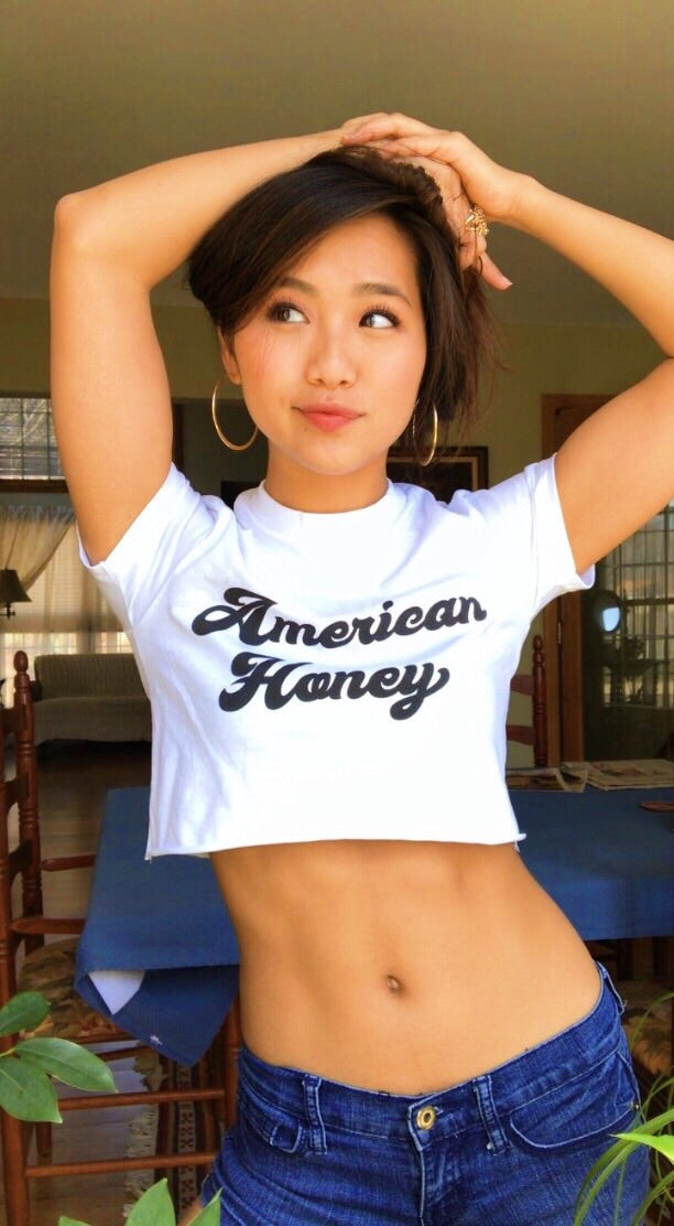 Vintage Women's American Honey Crop Top