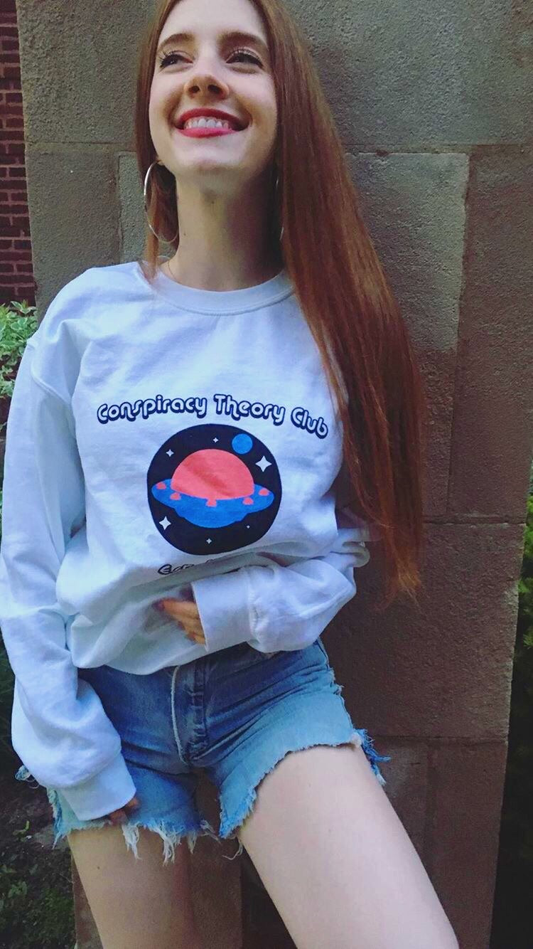Conspiracy Theory Club Vintage Unisex Crewneck Sweater