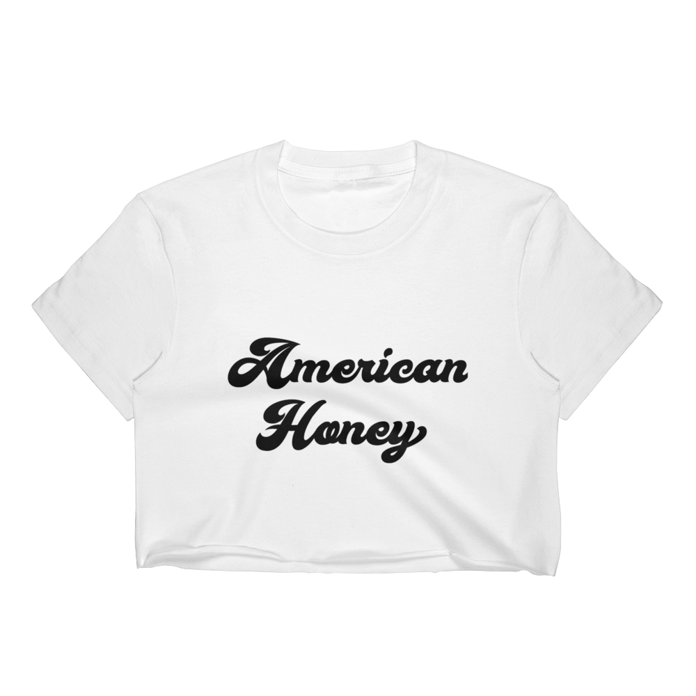 Vintage Women's American Honey Crop Top Tee by Runwoodie