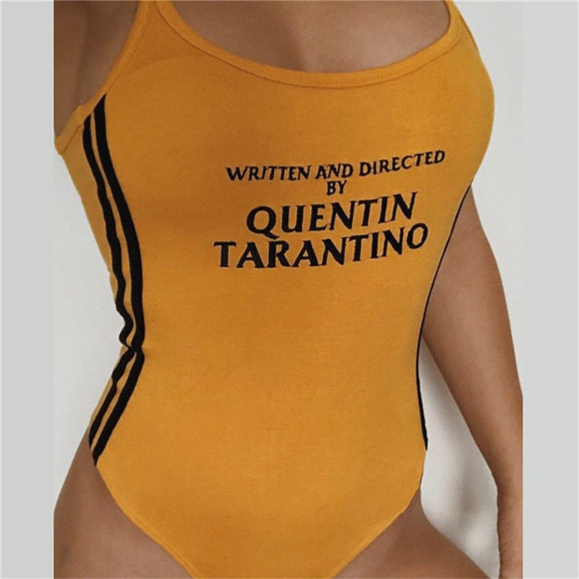 Vintage Written and Directed by Quentin Tarantino Kill Bill Tank Body Suit One Piece Bodysuit