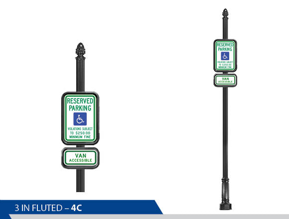 Handicap Street Sign, Traffic Sign, Decorative Signage, Personalized Signs, Street Sign On Fluted Pole, Custom Street Signs, Decorative Street Signs, Brandon Industries Sign, Best Quality Street Sign, Decorative Signage Systems, Street Signs