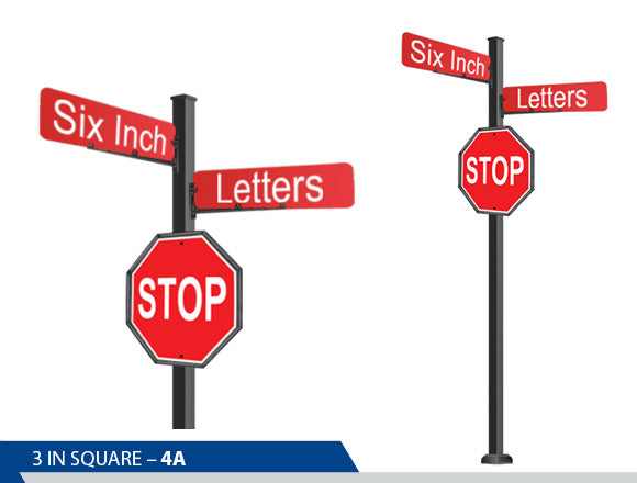 Stop Sign, 6 Inch Letters, Traffic Sign, Decorative Signage, Decorative Signage Systems, Street Signs, Personalized Signs, Street Sign On Square Pole, Custom Street Signs, Decorative Street Signs, Brandon Industries Sign, Best Quality Street Sign