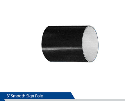 3 Inch Smooth Sing Pole, Decorative Sign Post, Round Sign Pole, Decorative Signage Systems, Street Signs