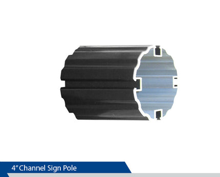 Channel Sign Pole, 4 Inch Pole, Decorative Sign Pole, Decorative Signage Systems, Street Signs,