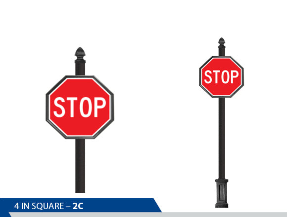 Point Finial, Decorative Trim, Large Two Piece Base, High Intensity Vinyl, Engineer Grade, Traffic Sign, Decorative Signage, Personalized Signs, Street Sign On Square Pole, Custom Street Signs, Decorative Street Signs, Brandon Industries Sign, Best Quality Street Sign Decorative Signage Systems, Street Signs,