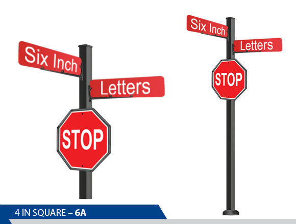 Stop Sign, 6 Inch Letters, Traffic Sign, Decorative Signage, Personalized Signs, Street Sign On Square Pole, Custom Street Signs, Decorative Street Signs, Brandon Industries Sign, Best Quality Street Sign, Decorative Signage Systems, Street Signs,