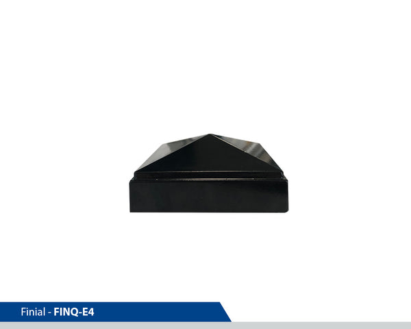 Point Cap Finial Square Post, E4, 4 Inch Pole, Cast Aluminium, Decorative Finials, Decorative Mailbox Parts, Brandon Industries, Curb Side Mailboxes,  Decorative Mailboxes, Cast Aluminum, Ornamental Mailboxes