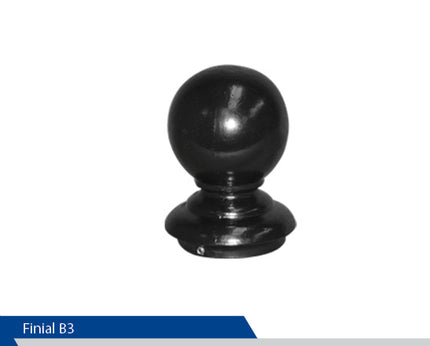Ball Finial, B3, 3 Inch Pole, Decorative Mailboxes, Aluminum Finials,  Cast Aluminium, Decorative Finials, Decorative Mailbox Parts, Brandon Industries, Curb Side Mailboxes