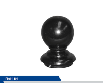 Ball Finial, B4, 4 Inch Pole, Cast Aluminium, Decorative Finials, Decorative Mailbox Parts, Brandon Industries, Curb Side Mailboxes
