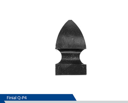 Large Point Finial Square Post, P4, 4 Inch Pole, Cast Aluminium, Decorative Finials, Decorative Mailbox Parts, Brandon Industries, Curb Side Mailboxes,  Decorative Mailboxes, Cast Aluminum, Ornamental Mailboxes