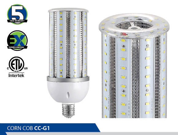 LED Corn Light, High Efficiency, Energy Saving, Retrofit, Ultra Wide 360 Degrees Light Distribution, Acorn Style Fixture