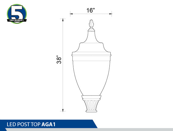 LED POST TOP: AGA1A
