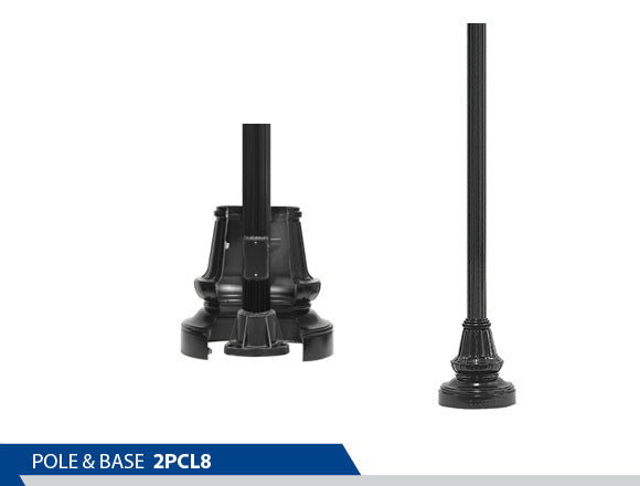 POLE & BASE: CL8 Two-piece - BrandonIndustries