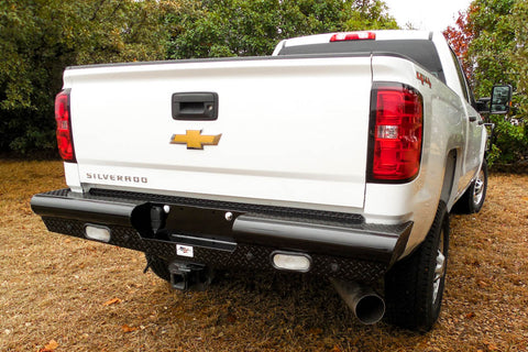 Heavy Duty Pipe Rear Bumper Chevy GMC 2500 3500 2015-2019