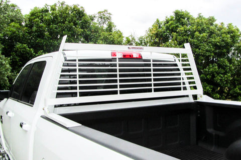 White Contractor Headache Rack- Ford F250 F350 1999-2019