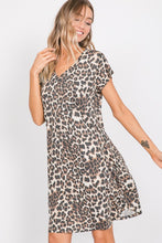 Leopard Dress with Pockets (size 2XL, 3XL)