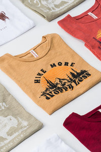 """Hike More Worry Less"" Graphic Tee"